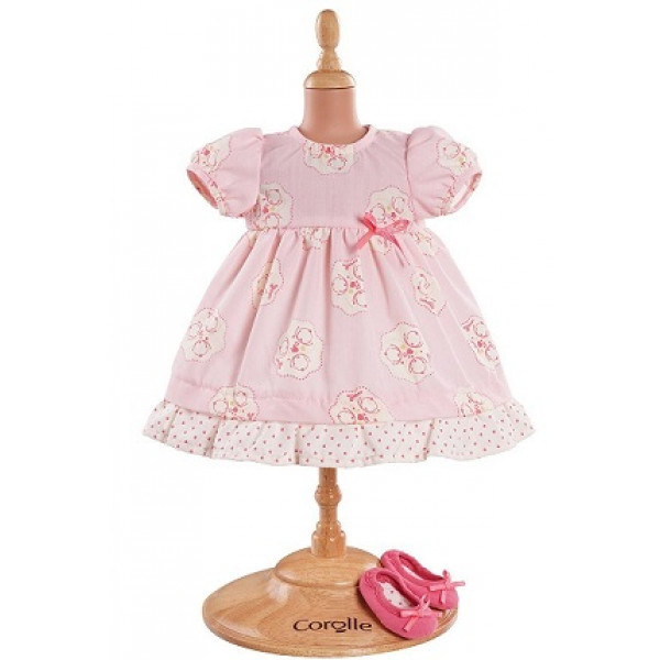 Corolle Pink Dress & Shoes for 14""