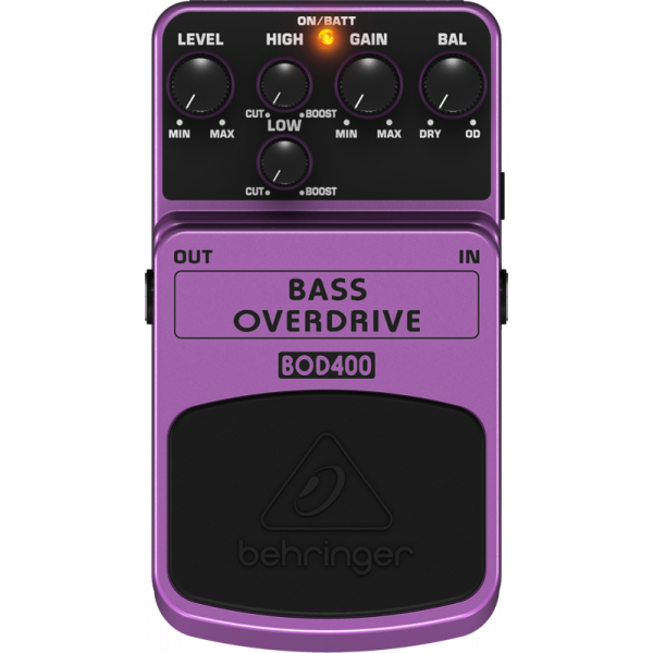 BEHRINGER BASS OVERDRIVE BOD400 Tube-Sound Overdrive Effects Pedal