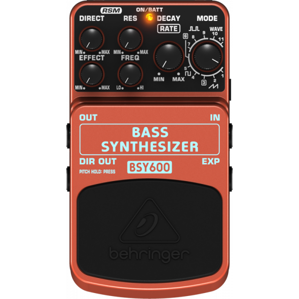 BEHRINGER BASS SYNTHESIZER BSY600 Ultimate Bass Synthesizer Effects Pedal