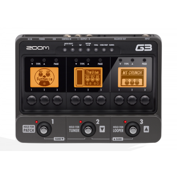 Zoom G 3 Multi-Effects Processor for Guitar /AD-16 AC Adapter
