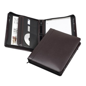 Samsill Regal Leather Zipper Binder