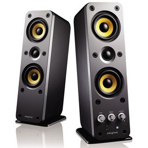 Creative GigaWorks II Series T40 2.0 Speaker System - 32 W RMS - Glossy Black