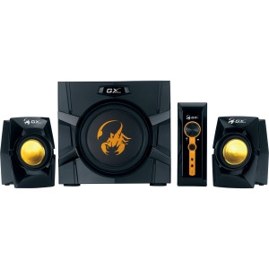 Genius GX Gaming SW-G2.1 3000 2.1 Speaker System - 70 W RMS - Black, Yellow