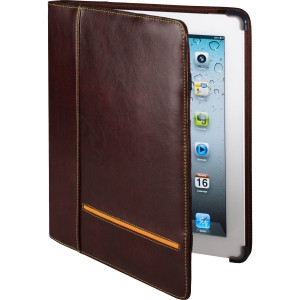 Cyber Acoustics Carrying Case (Portfolio) for iPad - Brown