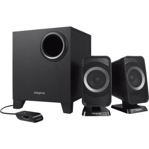 Creative T3150 2.1 Speaker System - 9 W RMS - Wireless Speaker(s) - Black