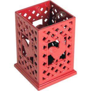 Anchor Cast Iron Utensil Holder / Red Rooster Design