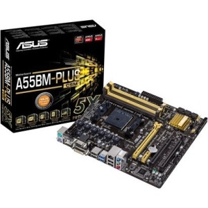 Asus A55BM-PLUS/CSM Desktop Motherboard - AMD A55 Chipset - Socket FM2+