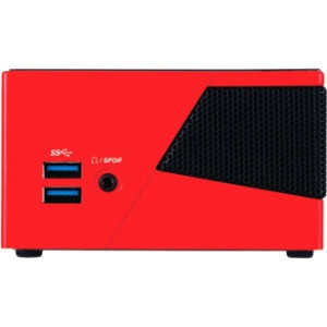 Gigabyte BRIX Pro GB-BXI5-4570R Desktop Computer - Intel Core i5 i5-4570R 2.70 GHz - Mini PC - Red