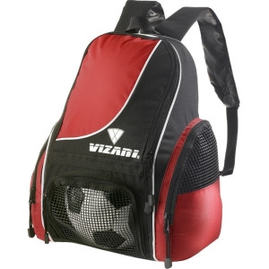 Vizari Solano Carrying Case (Backpack) for Ball - Red