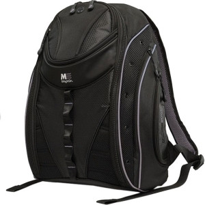 """SUMO Express Carrying Case (Backpack) for 17"""" MacBook, Notebook - Black, Silver"""