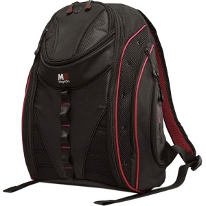 """SUMO Express Carrying Case (Backpack) for 17"""" MacBook, Notebook - Black, Red"""
