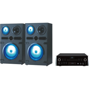 QFX HE-80820 2 Home Theater System - 1080p - Amplifier - DVD Player - Black