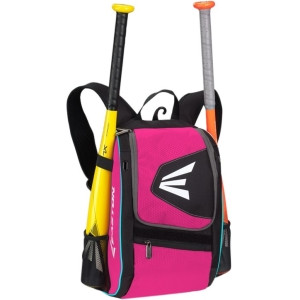 Easton Baseball Carrying Case (Backpack) for Baseball Bat, Digital Player, Accessories - Black, Pink