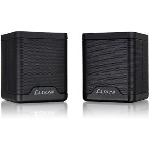 LUXA2 Groovy Duo 2.0 Speaker System - 6 W RMS - Portable - Battery Rechargeable - Wireless Speaker(s) - Black