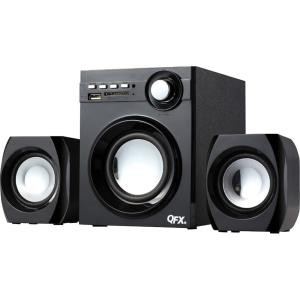 QFX BT-203 2.1 Speaker System - 10 W RMS - Bookshelf - Wireless Speaker(s) - Black