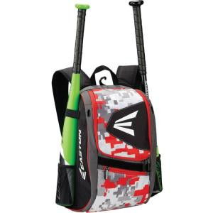 Easton E100P Carrying Case (Backpack) for Baseball - Camo, Red