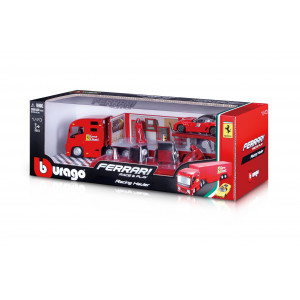 Bburago #18-31202 1:43 Ferrari Race & Play Hauler Set 1/43(Include 1 Vehicule)