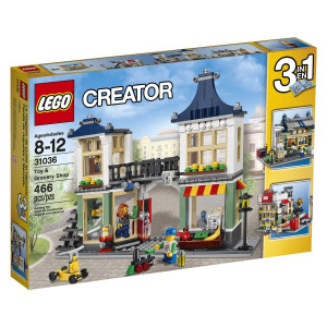 LEGO® Creator 31036 Toy & Grocery Shop to create a toyshop and grocery shop