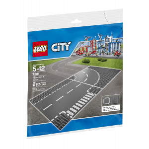 LEGO® City 7281 Town T-Junction and Curve Plate Building Kit