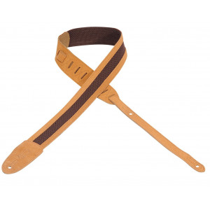"Levy's Leathers Guitar Strap M12SC-HNY - 2"" cotton guitar strap with suede ends and trim"
