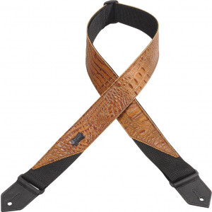 Levy's Leathers M8CR-TAN Immitation Crocodile Leather Guitar Strap
