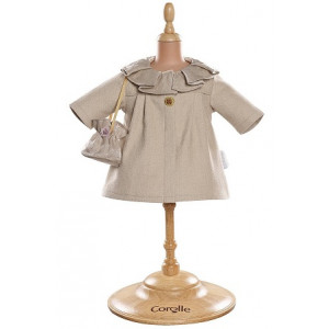 "Corolle Ivory Coat and Bag for 14"" Toddler Doll"