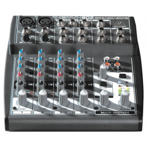 BEHRINGER XENYX 802 Mixer with XENYX Mic Preamps and British EQs