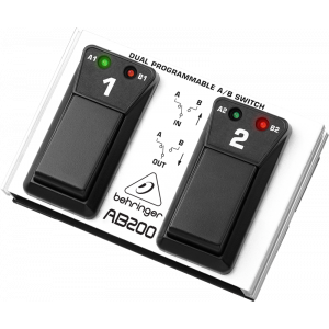 BEHRINGER DUAL A/B SWITCH AB200 Programmable Footswitch
