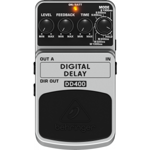 BEHRINGER DIGITAL DELAY DD400 Digital Stereo Delay/Echo Effects Pedal