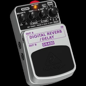 BEHRINGER DIGITAL REVERB/DELAY DR400 Digital Stereo Effects Pedal