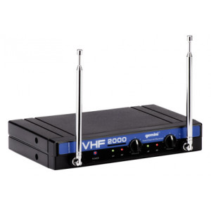 Gemini VHF-2001HL Dual channel VHF wireless system - 2 headsets/lavaliers