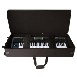 Gator GK-76-SLIM / Rigid EPS Foam Lightweight Case w/ Wheels for Slim 76 Note Keyboards
