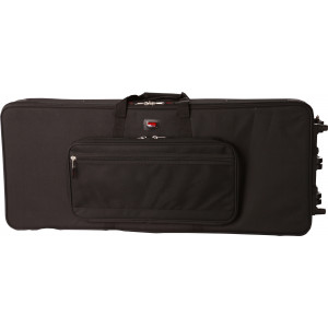 Gator GK-61-SLIM / Rigid EPS Foam Lightweight Case w/ Wheels for Slim 61 Note Keyboards