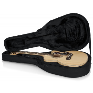 Gator GL-JUMBO / Jumbo Acoustic Guitar Lightweight Case-Black