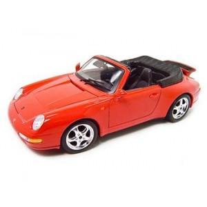 Bburago 1994 Porsche 911 Carrera Cabriolet Red 1:18 Model 18-12039