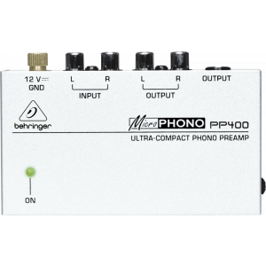 BEHRINGER MICROPHONO PP400 Ultra-Compact Phono Preamp