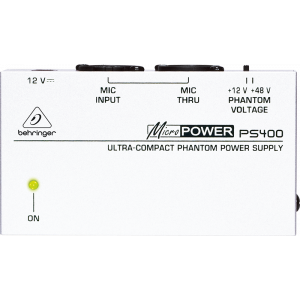 BEHRINGER MICROPOWER PS400 Ultra-Compact Phantom Power Supply