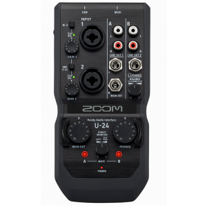Zoom U-24/ Handy Audio Interface