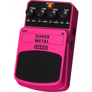BEHRINGER SUPER METAL SM400 High-Gain Distortion Effects Pedal
