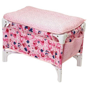 Corolle Les Classiques Floral Doll Bed and Changing Table