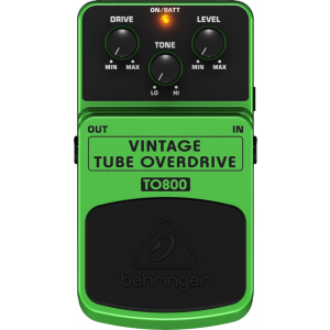 BEHRINGER VINTAGE TUBE OVERDRIVE TO800 Effects Pedal