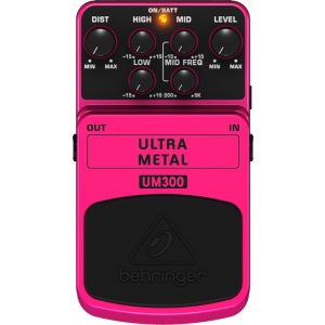 BEHRINGER ULTRA METAL UM300 Heavy Metal Distortion Effects Pedal