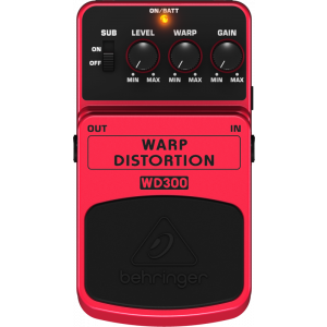 BEHRINGER WARP DISTORTION WD300 Effects Pedal