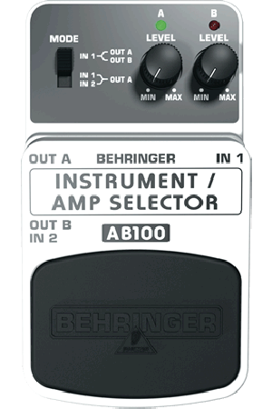 BEHRINGER GUITAR/AMP SELECTOR AB100 Universal 2-Mode A/B Footswitch