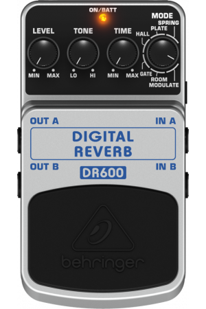 BEHRINGER DIGITAL REVERB DR600 Digital Stereo Reverb Effects Pedal